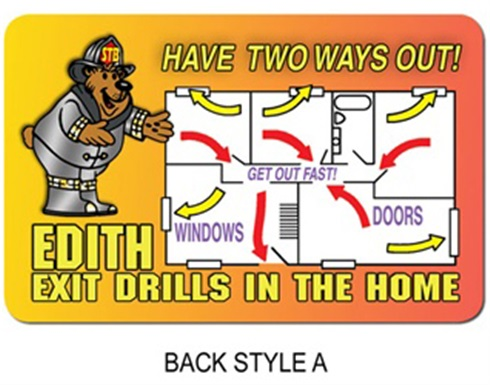edith fire safety coloring pages - photo#19
