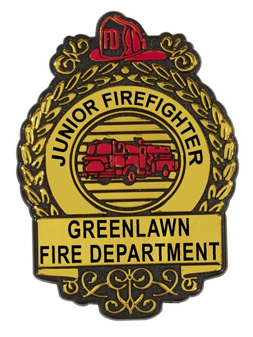 Oval Fire Shield - Junior Firefighter Plastic Badges