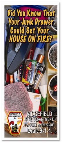 Did You Know That Your Junk Drawer Could Start Your House On Fire Brochure