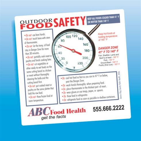 Outdoor Food Safety Magnet