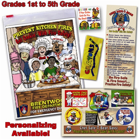 Classroom  Zip-Kits 1st - 5th Graders  2013 Fire Safety Theme