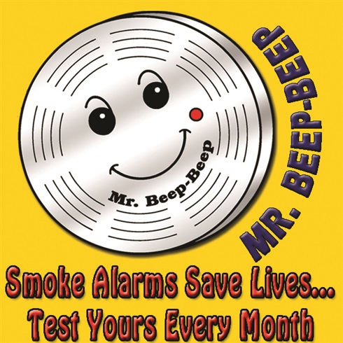 "2"" Temporary Tattoo - Smoke Alarms Save Lives...Test Yours Every Month"