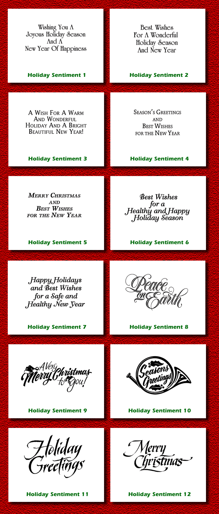 Christmas holiday greeting cards ems view holiday card sentiment samples m4hsunfo
